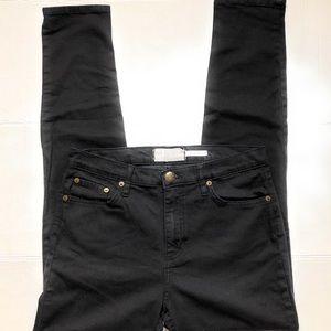 FP Free People High Rise Skinny Black Jeans z